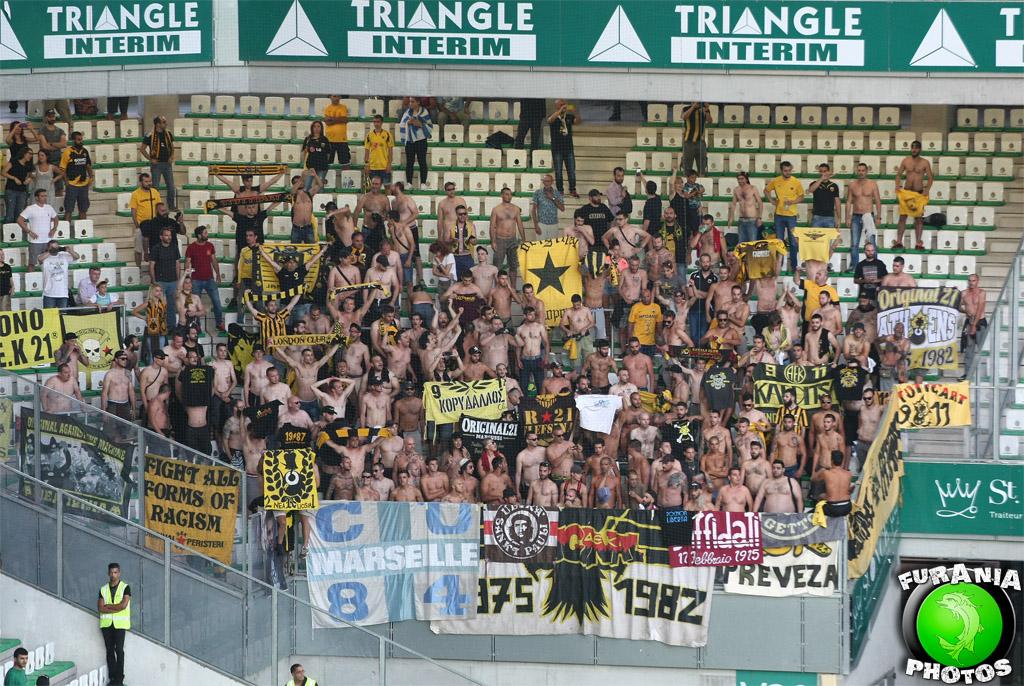 ASSE - AEK : de belles tribunes pour la reprise